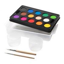 Набор акварельных красок, 14 цветов с принадлежностями