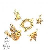Новогодний микс  №1, цвет античное золото