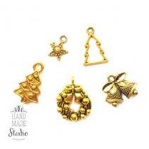 Новогодний микс  №2, цвет античное золото