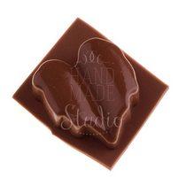 Силиконовая форма для мыла Листик №2, 3,5х4 см