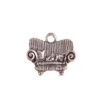 Серебряная металлическая подвеска Диван