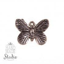 Серебряная металлическая подвеска Бабочка №1