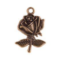 Бронзовая  металлическая подвеска Роза
