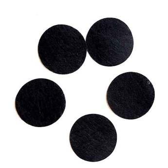 Фетровые кружочки, цвет черный