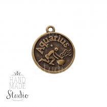 Бронзовая металлическая подвеска Знак зодиака Водолей