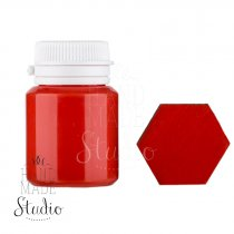 Акриловая латексная краска, 20 мл №32, цвет красный