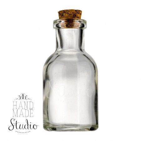 Стеклянная бутылочка с пробкой, 66x33мм