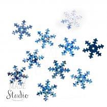 Пайетки Снежинки, цвет голографическое серебро 2,5 см 10 шт.