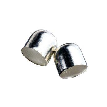 Колпачок для жгута, цвет - серебро d 1,2 см
