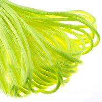 Шнурок шелковый, цвет неоново- желтый, 2 мм, 1м.