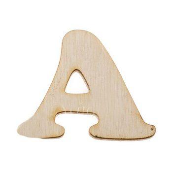 Деревянная заготовка буква А, 6 см