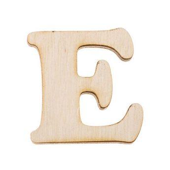 Деревянная заготовка буква Е, 6 см