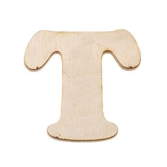 Деревянная заготовка буква Т, 6 см