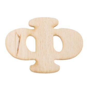 Деревянная заготовка буква Ф, 6 см