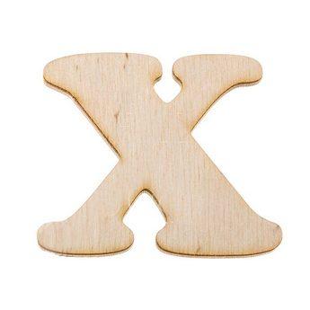 Деревянная заготовка буква Х, 6 см