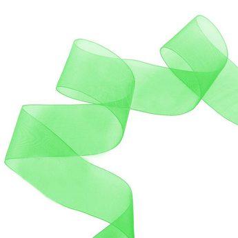 Органза, цвет зеленый, 40 мм