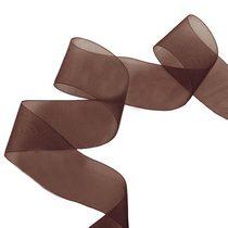Органза, цвет коричневый 40 мм, 1м