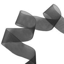 Органза, цвет черный 40 мм, 1м