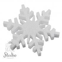 Снежинка пенопластовая №6 15 см
