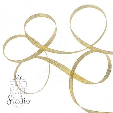 Лента-парча, цвет золото 0,6 см