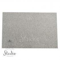 Клеевой фоамиран с глиттером, цвет серебро 2 мм. 20х30 см