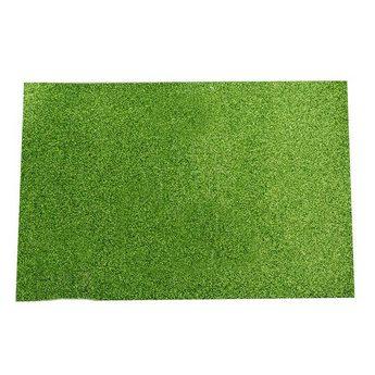 Клеевой фоамиран с глиттером, цвет зеленый 2 мм. 20х30 см
