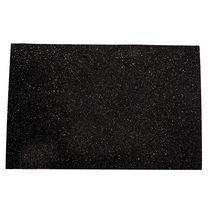 Клеевой фоамиран с глиттером, цвет черный 2 мм. 20х30 см