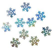Пайетки Снежинки, цвет голографическое серебро 4 см 10 шт.