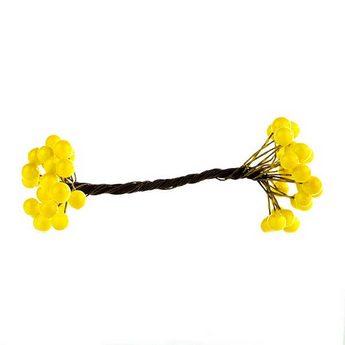 Ягода декоративная лаковая, цвет желтый