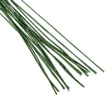 Проволока для стволов зеленая в тейп-обмотке, диаметр - 0,4 мм