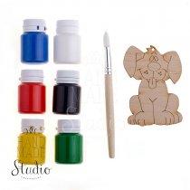 Набор для детского творчества HM Studio ( 6 красок+кисть+заготовка)