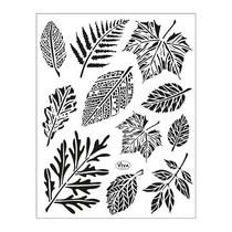 Силиконовые штампы Листья, 11 штук, 14х18 см