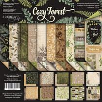 "Набор двусторонней бумаги 20х20см ""Cozy Forest"" 10шт"