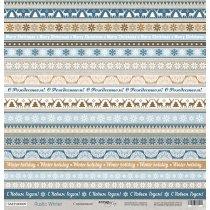 Лист односторонней бумаги 30x30 от Scrapmir С Праздником! из коллекции Rustic Winter