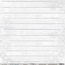 Лист односторонней бумаги 30x30 от Scrapmir Изморозь из коллекции Rustic Winter, 190г/м2, 1 шт