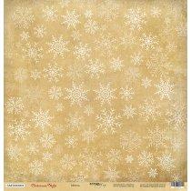 Лист односторонней бумаги 30x30 от Scrapmir Метель из коллекции Christmas Night, 190г/м2, 1 лист