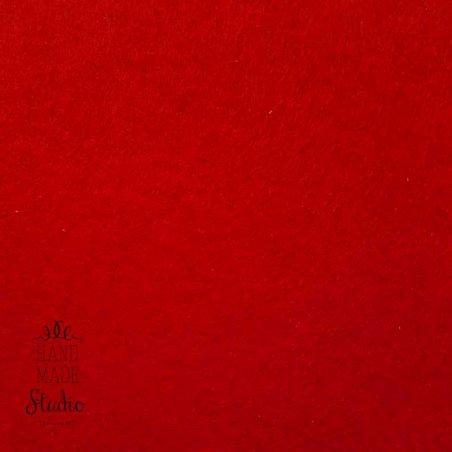 021 Фетр листовой мягкий, цвет рождественский красный