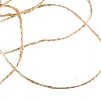 Льняной канат для декорирования (шпагат), толщина - 0,8 мм