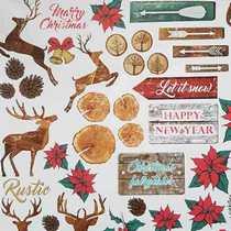 "Лист односторонней бумаги ""Christmas Fairytales"", 30,5x30,5 см, 200г/м2, 1 лист"