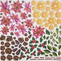 "Лист односторонней бумаги ""Botany WINTER"", 20x20 см, 200г/м2, 1 лист"