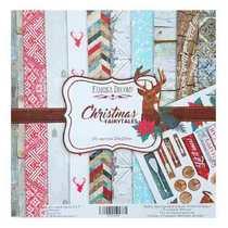 "Набор двусторонней бумаги 20х20 см ""Christmas Fairytales"" 10шт"