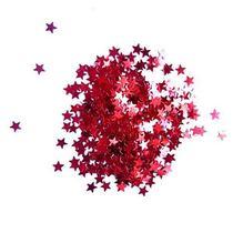 Сухие блестки Звездочки, цвет - красный 450 шт