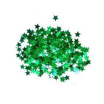 Сухие блестки Звездочки, цвет - зеленый 450 шт