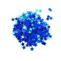 Сухие блестки Звездочки, цвет - синий 450 шт