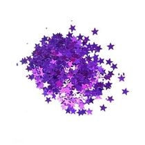 Сухие блестки Звездочки, цвет - фиолетовый 450 шт