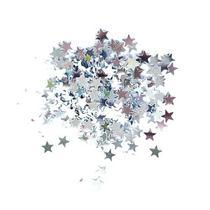 Сухие блестки Звездочки, цвет - серебро 450 шт