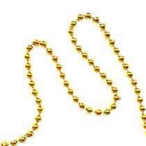 Новогодняя Гирлянда/бусы d 6 мм, цвет золото 2,6 м
