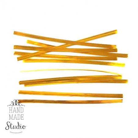 Проволочные завязкые,  цвет золото, 10 см, 10 штук