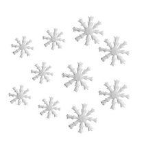 Фетровые Снежинки №2  10 шт,  цвет белый 2,3х3 см