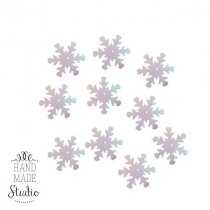 Пайетки Снежинки, цвет перламутр ( голограмма) 2,5 см 10 шт.